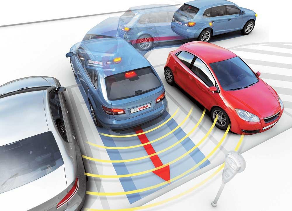 Схема парковочного радара