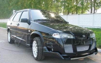Юбка переднего бампера (спойлер) Тюнинг ВАЗ 2114 V-Max