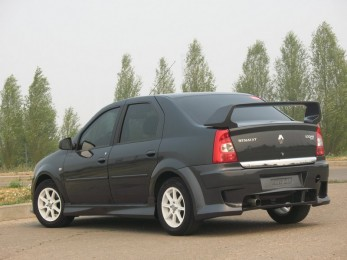 Бампер задний Renault Logan Power DM F2